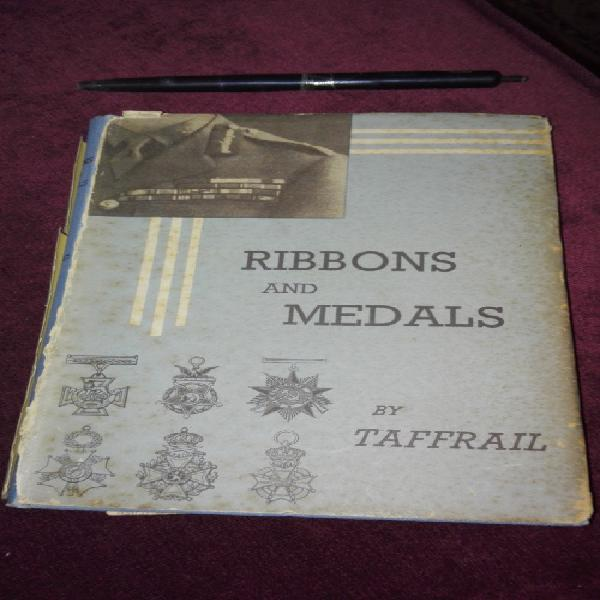 Book; ribbons and medals by taffrail (some damage)