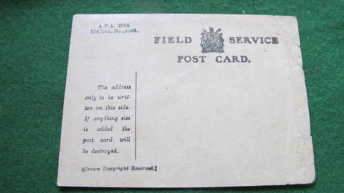 South africa -wwi - field service post card unused