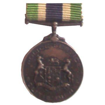 South african police good service miniature medal with short