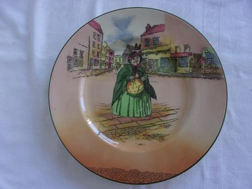 Vintage royal doulton round sairey gamp rack plate - d. 6327