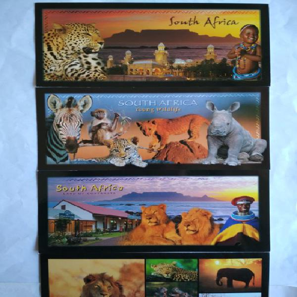 Various south african/wildlife/city postcards (unused post