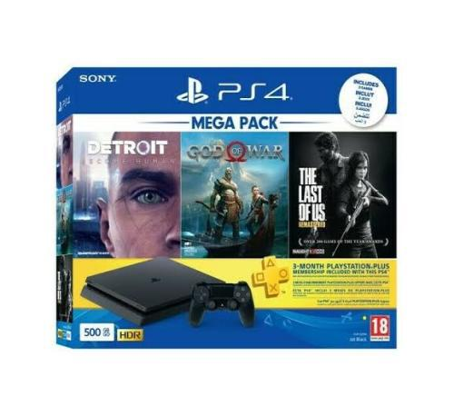 Bargain] playstation 4 / ps4 500gb mega pack console + 4