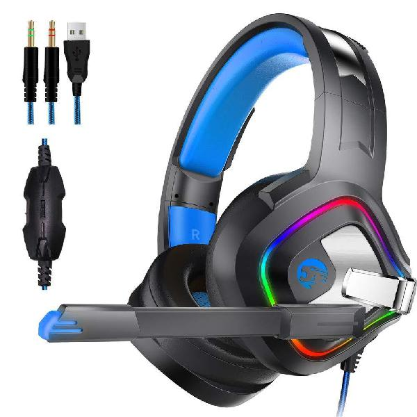 4D Sound Gaming Headset GSUMMER Gaming Headset Gaming PC Headset 7.1 Stereo Gaming Headset