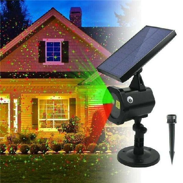 Solar garden laser light