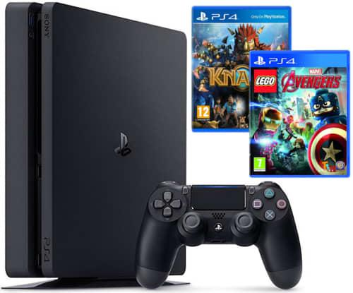 Sony playstation 4 500gb console plus knack & lego avengers