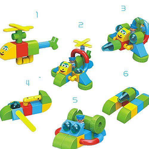 Blueeagle cartoon magnetic building blocks construction set