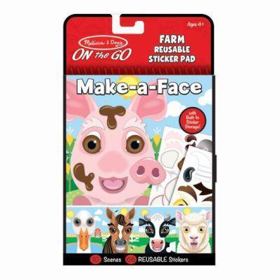 Melissa & doug make-a-face - farm reusable sticker pad