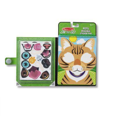 Melissa & doug make-a-face - pets reusable sticker pad