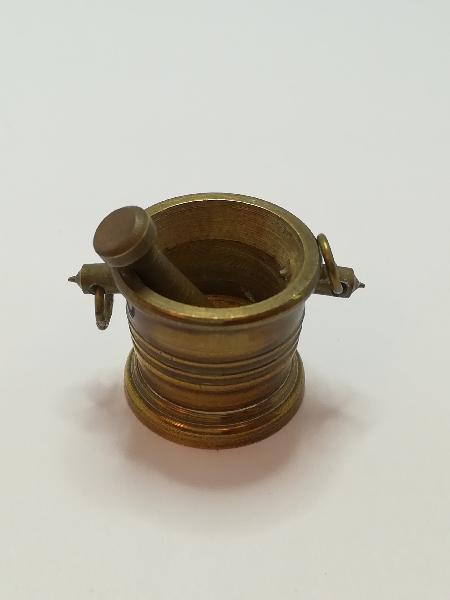 Miniature brass bucket and grinder (for printers