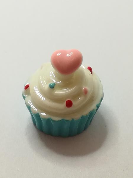 Miniature cupcake blue (for printers tray/dollhouse)