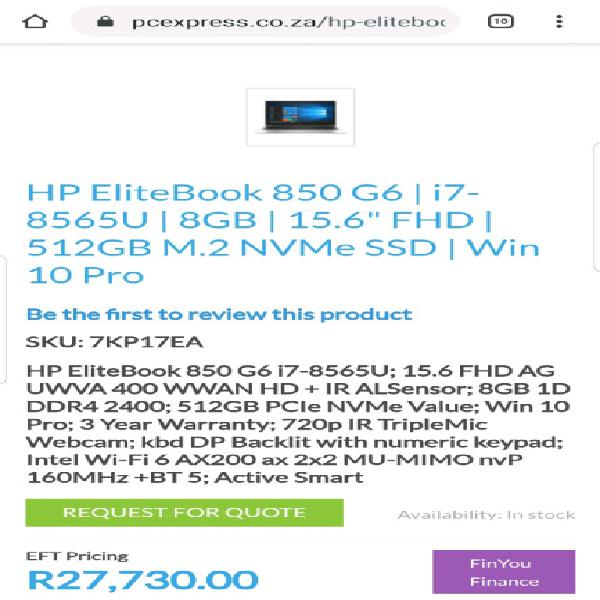 New hp probook 450 g6 intel core i7 8th gen very high spec