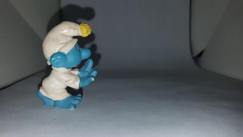 Sleep walker rare vintage smurf figure toy pvc figurine