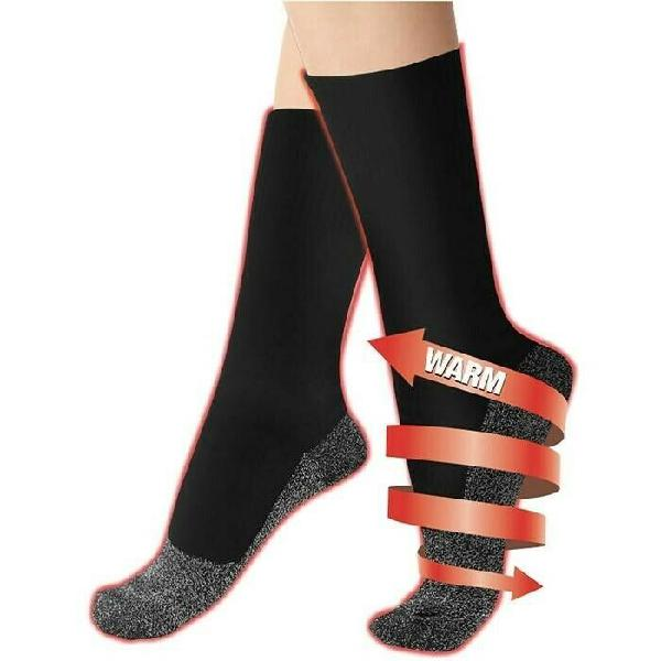 Supersoft heat reflective aluminum fiber socks