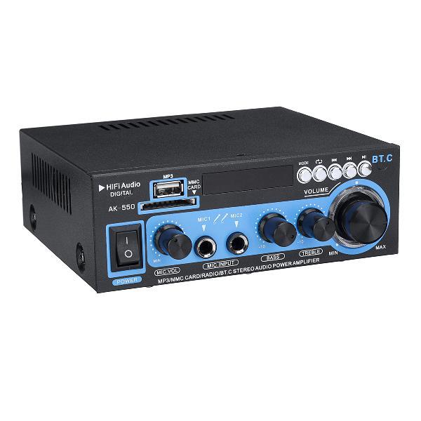Ak-550 110v 12v hifi car audio stereo power amplifier