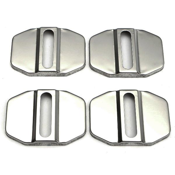 Auto stainless steel door lock protective covers cap