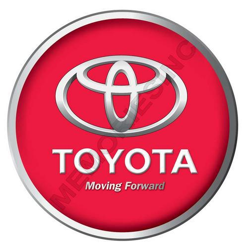 Toyota - moving forward - classic round metal sign