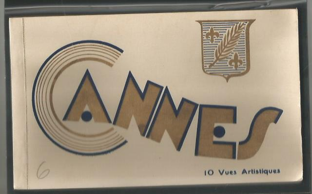 Cannes - antique booklet consisting of 10 post cards