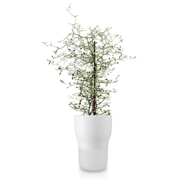 Eva solo white rounded self-watering flower/herb pot