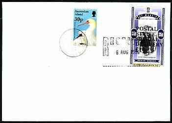 Great britain 1996 postal strike cover to ascension bearing