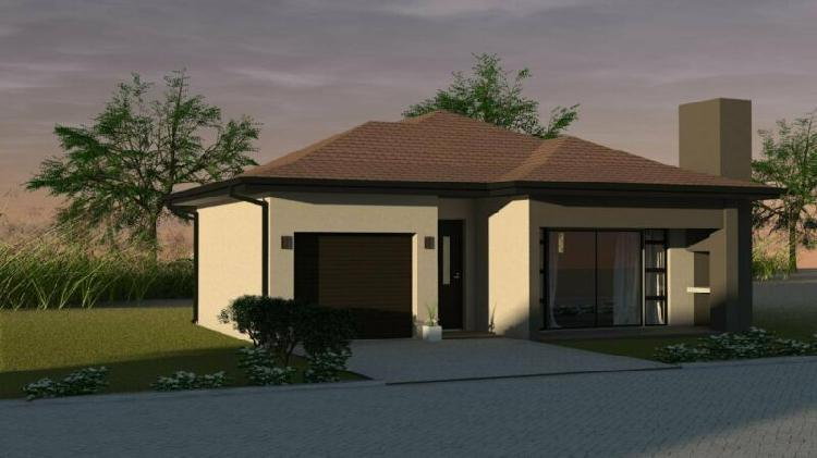 2 or 3 bedroom homes in security estate - plot and plan -