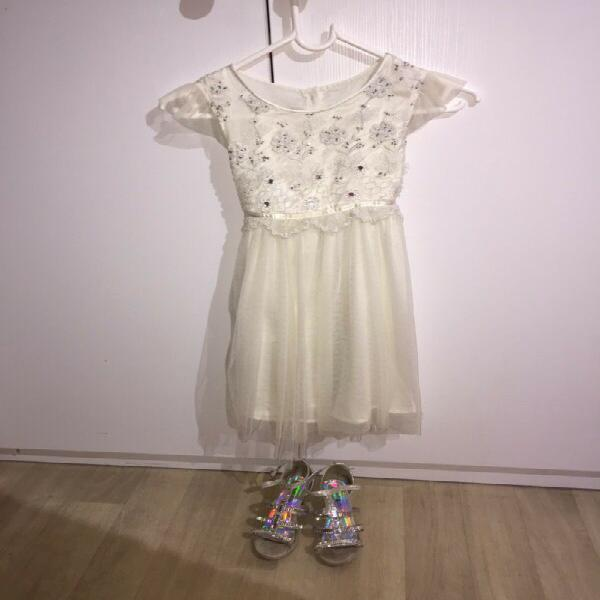 Size 7-8 girls dress and size 1 shoes