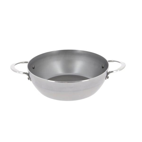 De buyer mineral b element deep frying pan with 2 handles