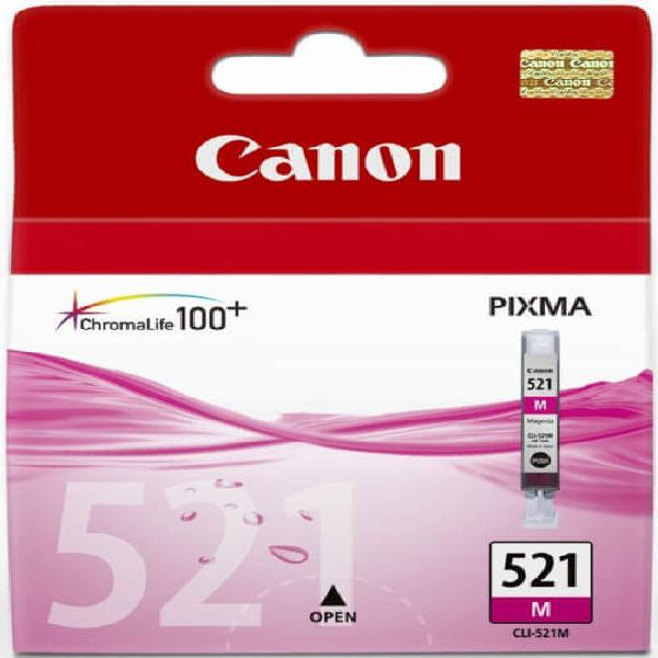 Canon CLI521 Magenta Single cartridge with yield of 446