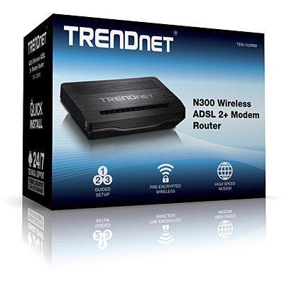 Trendnet n300 wireless adsl 2+ modem router ** tew-721brm