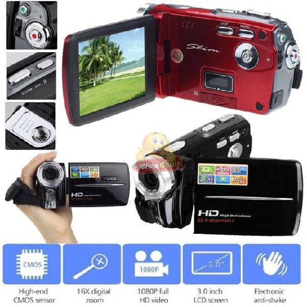 Hd digital video camcorder, 3.0 inch lcd screen, 20mp, 16x