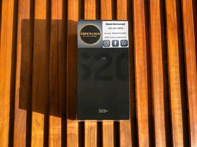 SEALED SAMSUNG GALAXY S20 PLUS COSMIC BLACK DUAL SIM