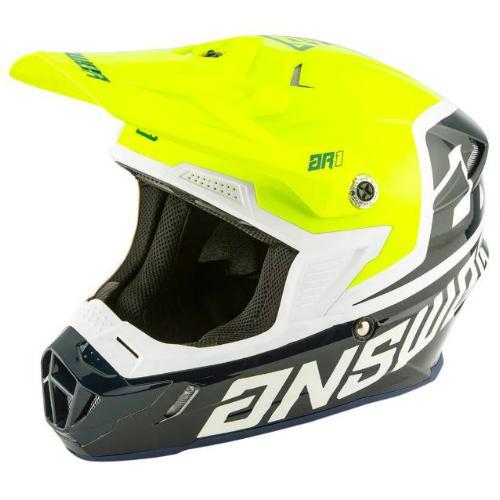 Answer voyd helmet - midnight-hyper-acid-white l