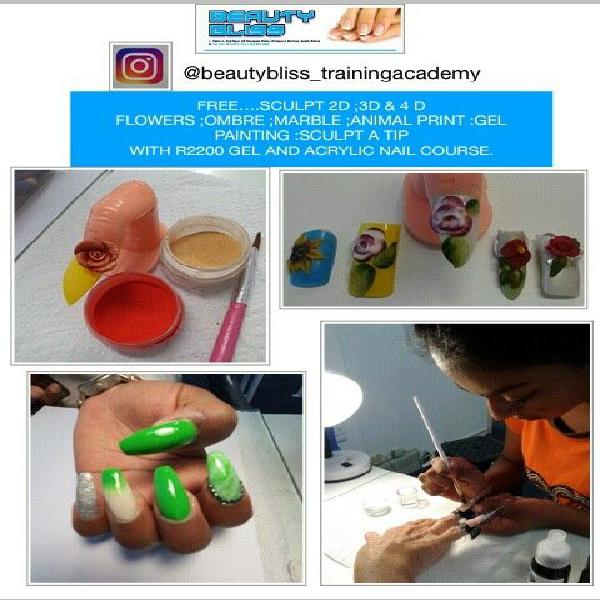 Online training.r2200 gel and acrylic nail course.free nail