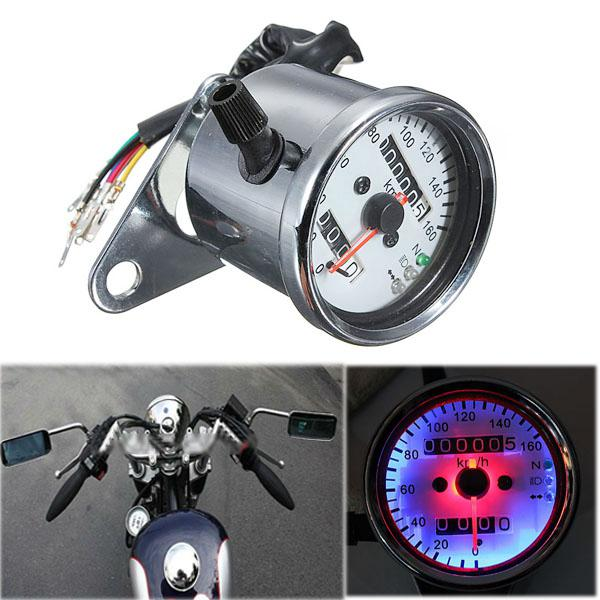 Motorcycle dual odometer speedometer gauge led backlight