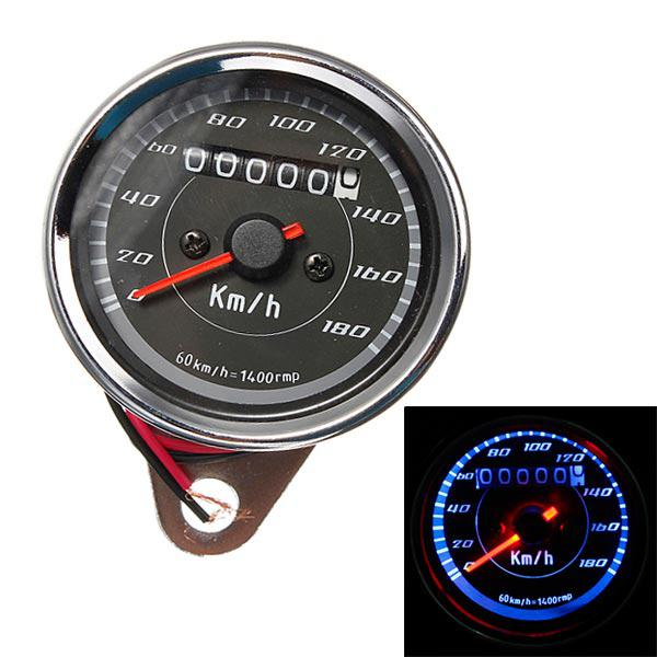 Motorcycle odometer speedometer gauge meter dual color led