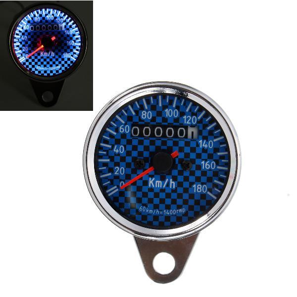 Universal motorcycle led speedometer odometer gauge blue