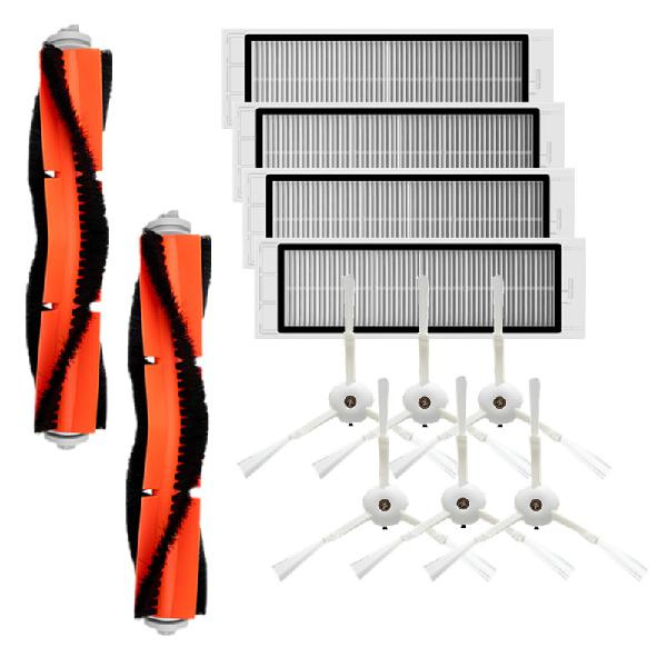 12pcs parts main brush side brush hepa filters for xiaomi