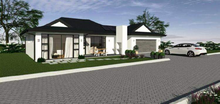 3 bedroom home in security estate - plot and plan -