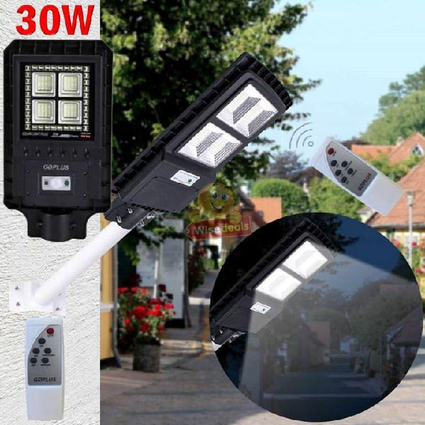 30w led solar street light with 3 lightening modes, led
