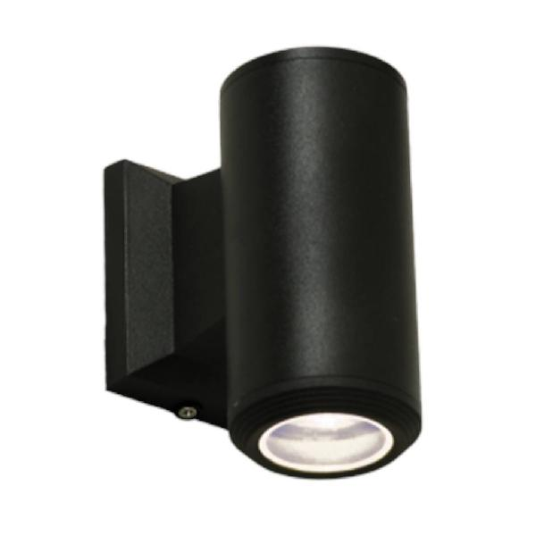 Bright star l125 black outdoor up & down facing cylindrical