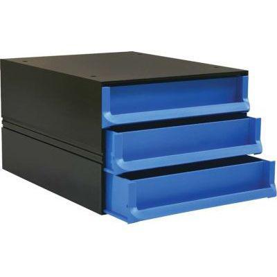 Bantex texo modular 3 drawer storage system (cobalt blue)