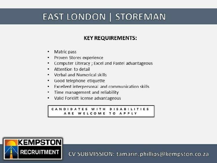 East london | storeman
