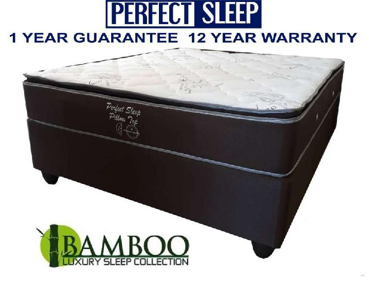 New Beds R2799 Queen R2599 Double Luxury Bamboo Pillow Top
