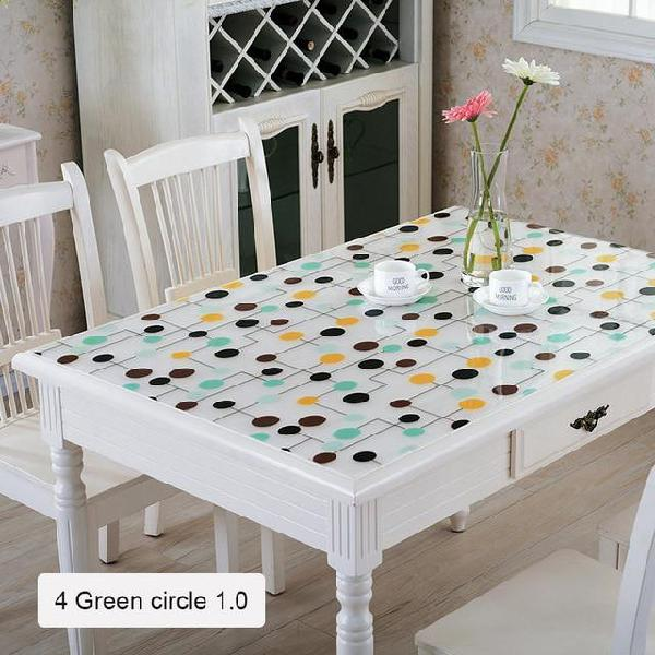 Pvc transparent tablecloth soft glass rectangle waterproof