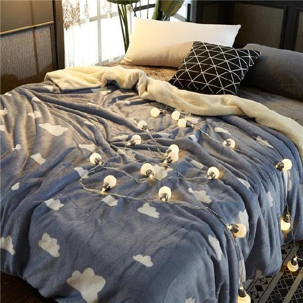 Super soft warm thick throw blanket for sofa bed winter wool