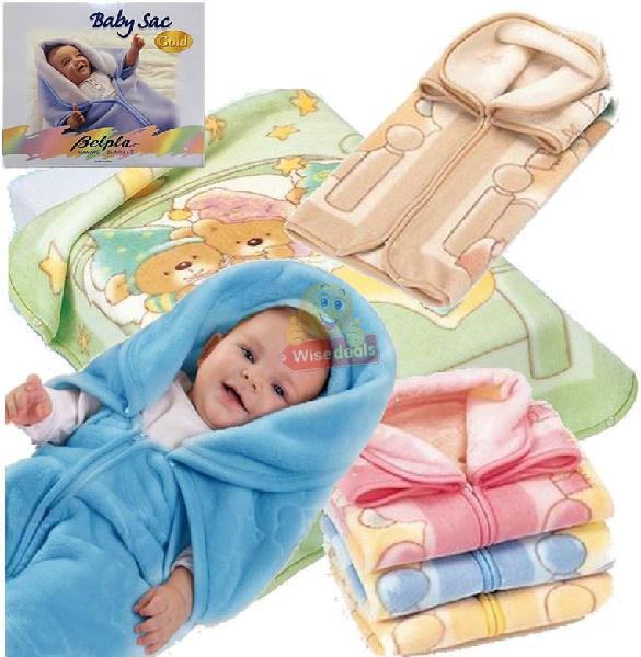 Supper soft 3-in-1 baby blanket, coat & sleeping bag, all in