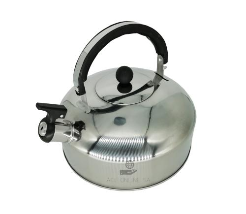 Whistling stainless steel kettle - 1lt - suitable to use on