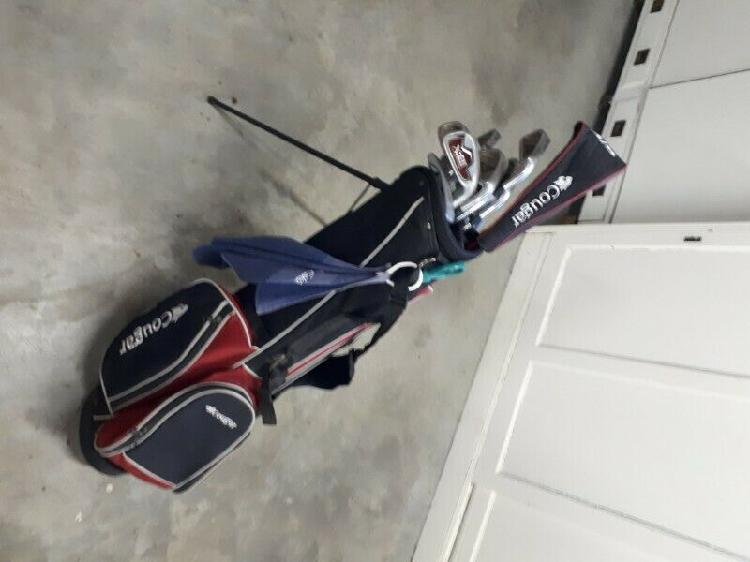 Set of cougar golf clubs including 6 lynx clubs for sale.