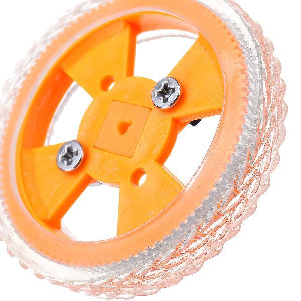 70X12mm Yellow Wear-resistant Rubber Wheels inner diameter