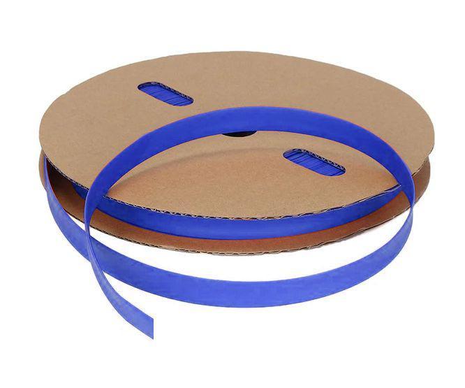 Pvc blue heat shrink 140mm (flat=220mm) 0.12mm thick 190511