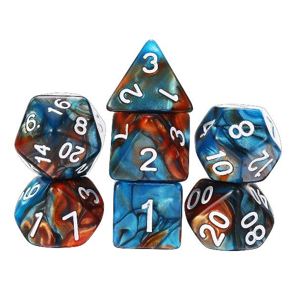 35PCS Metal Polyhedral Dices Set For Dungeons & Dragons Dice